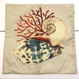 Seashell Conch Pillow COVER ONLY NWOT 🌼 2/$20